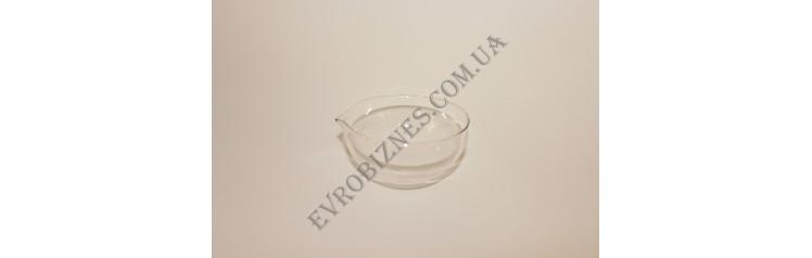 Чаша випарна круглодонная з носиком 90мм TC