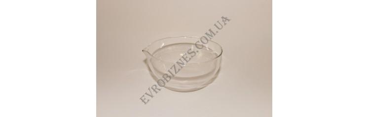 Чаша випарна круглодонная з носиком 150мм TC