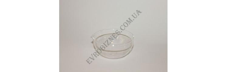 Чаша випарна плоскодонна з носиком 150мм TC