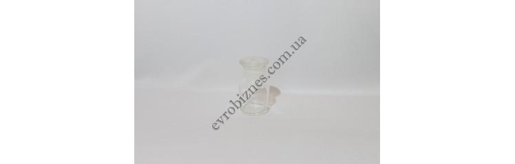 Бутыль для реактивов 60мл с пришлифованной пробкой широкое горло светлое стекло